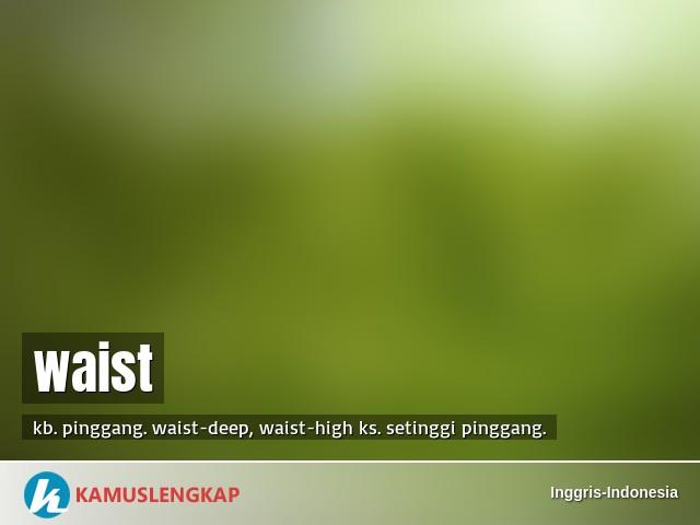 Arti Kata Waist Dalam Kamus Inggris Indonesia Terjemahan Dari Bahasa Inggris Ke Bahasa Indonesia Kamus Bahasa Inggris Ke Bahasa Indonesia