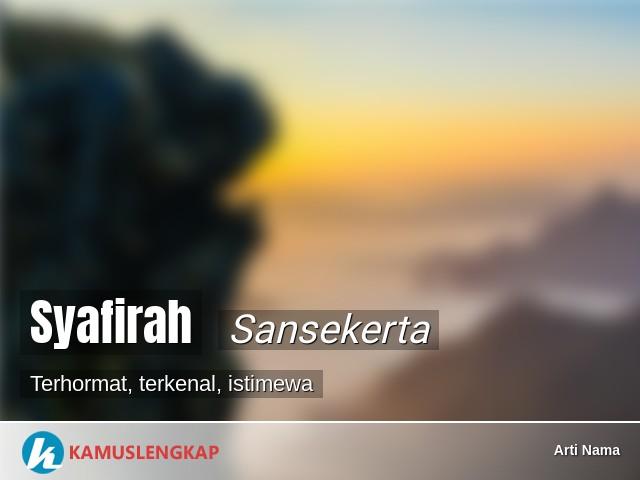 Maksud Nama Syafirah Dalam Islam   mmaudit