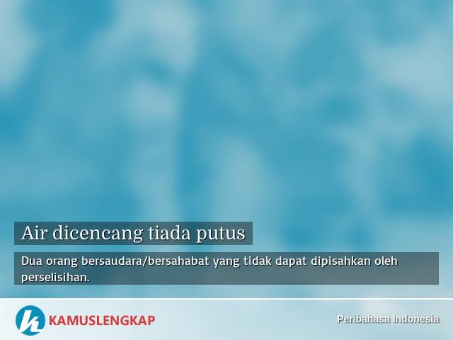 Arti Peribahasa Air Dicencang Tiada Putus Dalam Kamus Peribahasa Indonesia Terjemahan Kamus Lengkap Online Semua Bahasa
