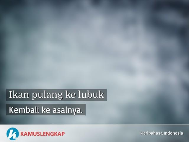 Arti Peribahasa Ikan Pulang Ke Lubuk Dalam Kamus Peribahasa Indonesia Terjemahan Kamus Lengkap Online Semua Bahasa
